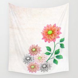 Sweet Dahlias Wall Tapestry