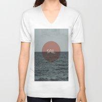 sail V-neck T-shirts featuring Sail by Carla Talabá