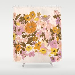 vintage wildflowers Shower Curtain