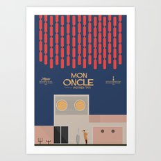 Mon Oncle - Jacques Tati Movie Poster, classic French movie, old film, Cinéma français, fun, humor Art Print