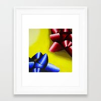 bows Framed Art Prints featuring Bows by ☼LinziexDiane