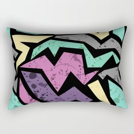 Abstraction. Colorful geometric pattern. Grunge. Rectangular Pillow