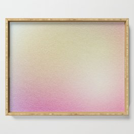 Paper texture Gradation (Pink & Yellow fog) Serving Tray