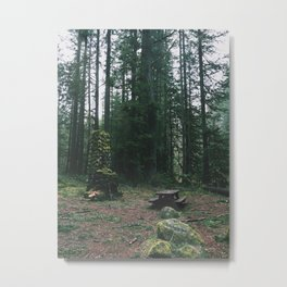 Unresolved Campsite Metal Print