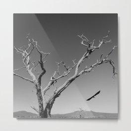 The Crow and Tree Metal Print