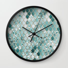Mermaid Glitter Scales #3 #shiny #decor #art #society6 Wall Clock