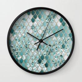 Mermaid Glitter Scales #3 #shiny #decor #art #society6 Wall Clock
