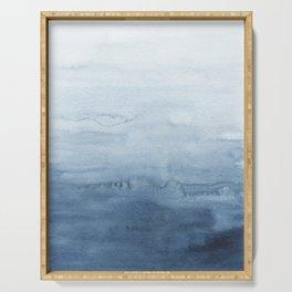 Indigo Abstract Painting | No. 4 Serving Tray