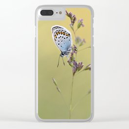Silver Studded Butterfly Clear iPhone Case