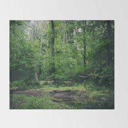 In the Woods Throw Blanket