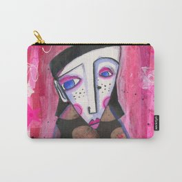 Doll with Pink Stars Carry-All Pouch
