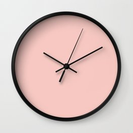 Seashell Pink Wall Clock