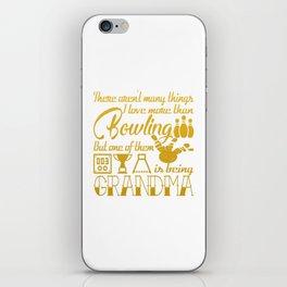 Bowling Grandma iPhone Skin