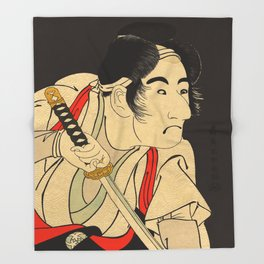 Sharaku #9 Throw Blanket