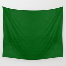 Emerald Green Brush Texture - Solid Color Wall Tapestry