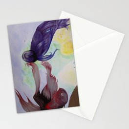 Japanesse Fighting Fish Stationery Cards