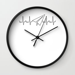Origami Master Pilot Heartbeat Pulse ECG Gift for Origami Lovers Wall Clock