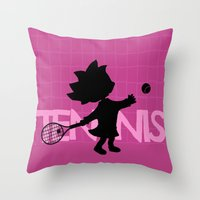 tennis Throw Pillows featuring Tennis by BLOOP