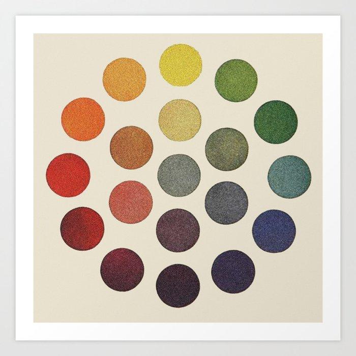 Parsons Spectrum Color Chart 1912 Remake Art Print By Coloria
