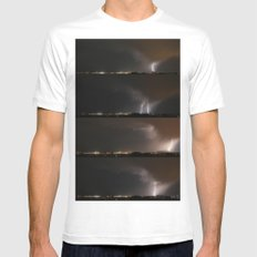 Stormed White SMALL Mens Fitted Tee