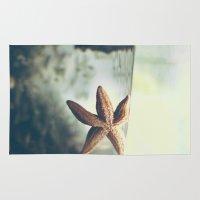 starfish Area & Throw Rugs featuring Starfish by Katie Koop