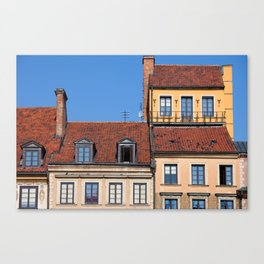 Houses in Old Town of Warsaw Canvas Print