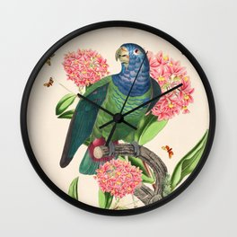 Oh My Parrot IV Wall Clock