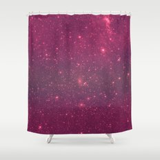 Pink Space Shower Curtain