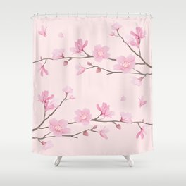 Cherry Blossom - Pink Shower Curtain
