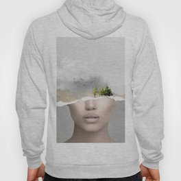 minimal collage /silence2 Hoody