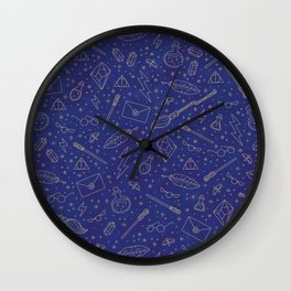 Yer a Wizard - Blue + Bronze Wall Clock
