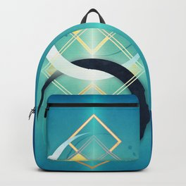 Floating Geometry :: Crescent Moons Backpack
