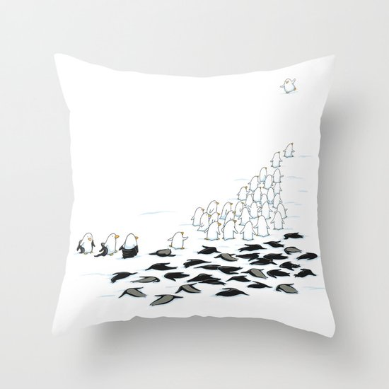 suit down Throw Pillow