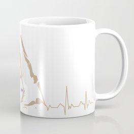 Climbing Climber Mountaineer Mountain Heartbeat Coffee Mug