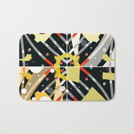 Cheezy abstract Bath Mat