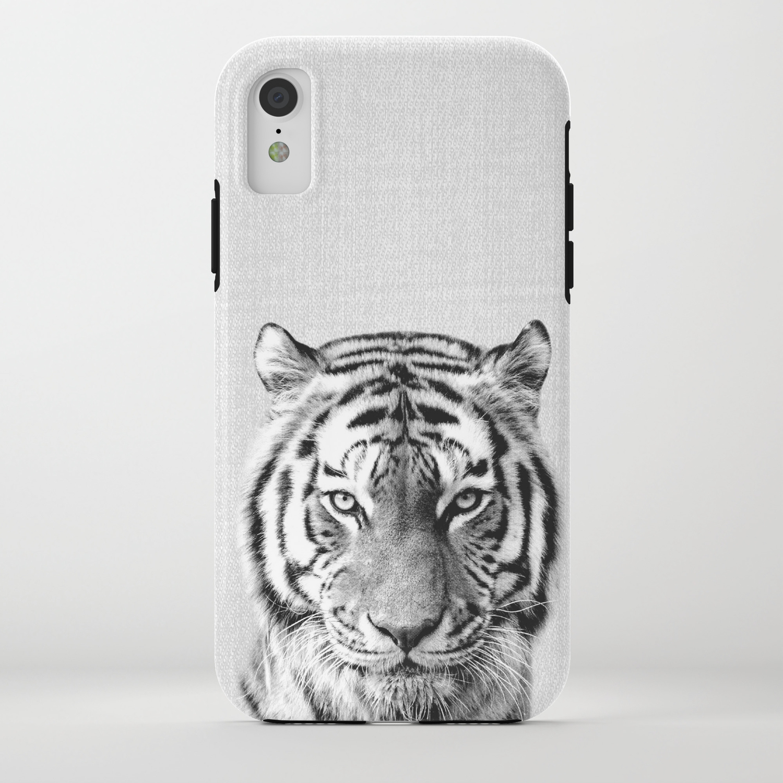 Tiger black white iphone case