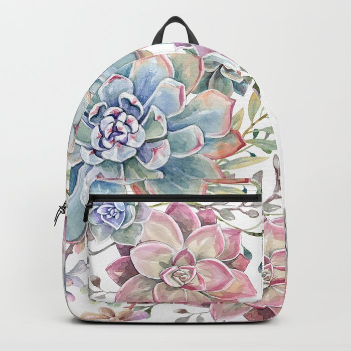 succulent watercolor 6 Backpack