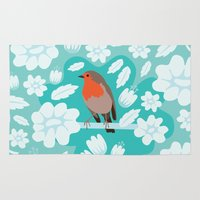 robin Area & Throw Rugs featuring Robin by Ornaart