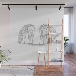 Symmetry Zebras Wall Mural