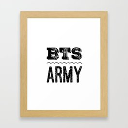 BTS Army Logo Framed Art Print