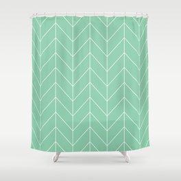 Mint arrows Shower Curtain