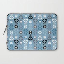 Scandinavian Flowers Blue Laptop Sleeve