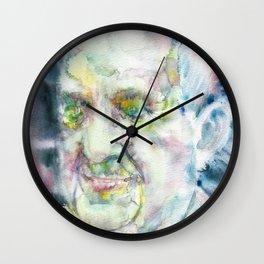 POPE FRANCIS - watercolor portrait.3 Wall Clock