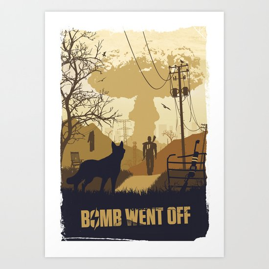Bomb went off fallout 4 art print by vlad penev society6 for Fallout 4 canvas painting