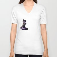 teagan white V-neck T-shirts featuring Teagan by Michael T. Patrick