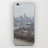 cincinnati iPhone & iPod Skins featuring Cincinnati, Ohio by saraaarubyyy