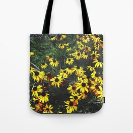 Etched Daisy Cluster Tote Bag