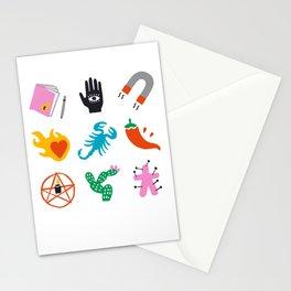 Scorpio Emoji Stationery Cards