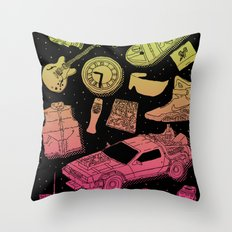 Artifacts: Back to the Future Throw Pillow