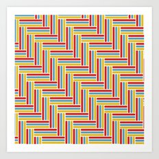 Vintage Basketweave: Herringbone Art Print